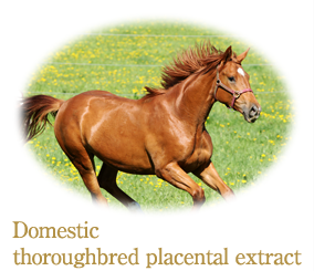 Domestic thoroughbred placental extract